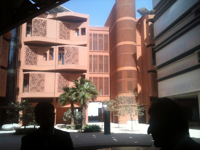 Interior of Masdar City