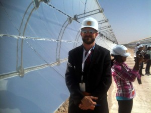 The author at the Shams 1 CSP plant.
